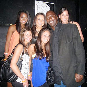 Sarah Spain got this picture with His Airness when she attended his son Marcus' graduation party.