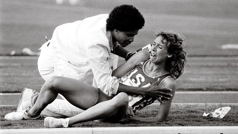 Mary Decker initially blamed Zola Budd for the 1984 Olympics collision, but the runners later reconciled.