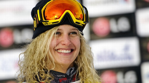 Lindsey Jacobellis is busy rehabbing after a second ACL surgery in December. She hopes to return to the snow late this year.