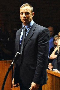 Oscar Pistorius appeared at a hearing Tuesday in which he insisted the shooting of his girlfriend was an accident.