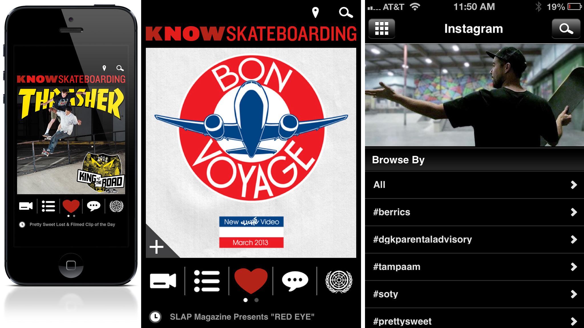The Know Skateboarding app brings the web to skateboarders fingertips.