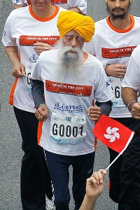 Fauja Singh, the world's oldest marathon runner, runs his last race at the age of 101 on Sunday.