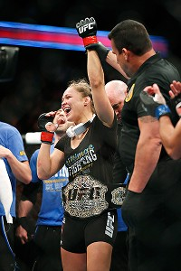 Ronda Rousey was part of the headlining match at UFC 157. She beat Liz Carmouche to stay undefeated.