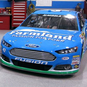 One of the new Petty Blue cars Aric Almirola will drive in 2013.