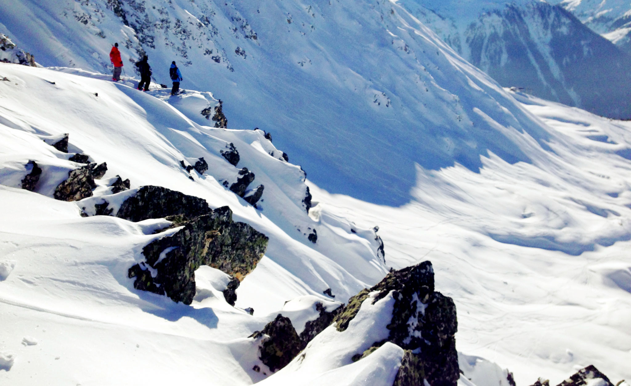 The view in France, where Parker White shot most of his X Games Real Ski Backcountry part.