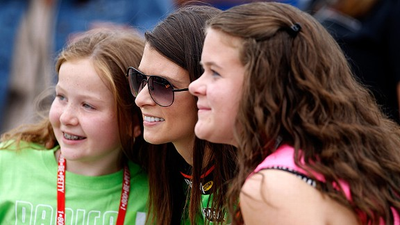 Little girls are drawn to Danica Patrick; she doesn't know where it's coming from, but she enjoys it.