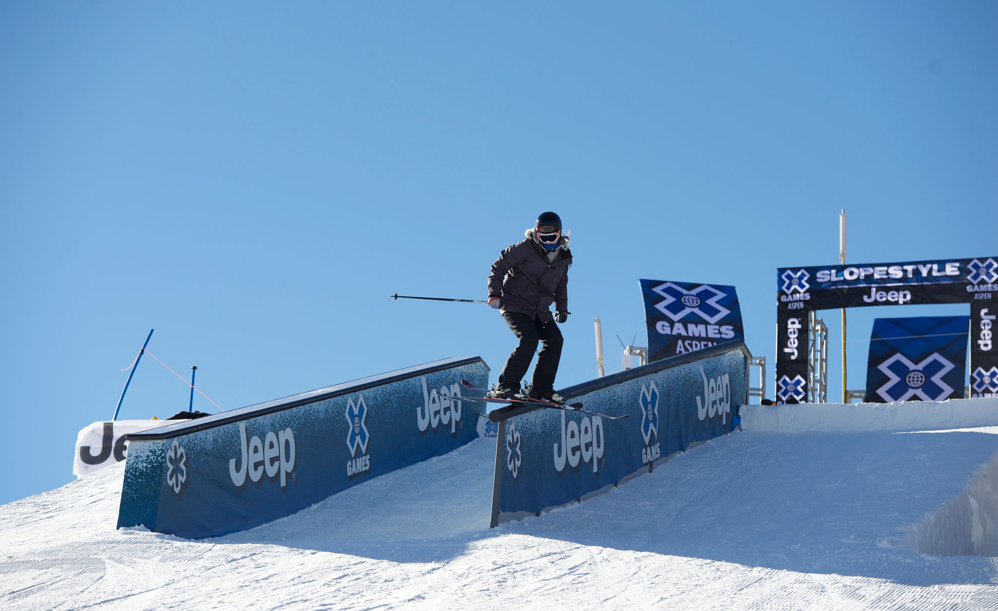 Rose Battersby during practice at X Games Aspen, just before getting injured.