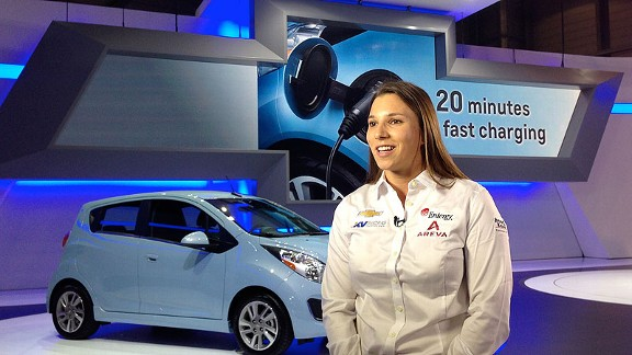 Simona de Silvestro got to visit family and friends in her native Switzerland at the Geneva Auto Show in early March.
