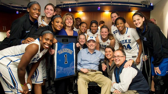 Duke supporter Jim Sabiston, fighting non-Hodgkin's lymphoma, encourages the team to play junkyard mean.''