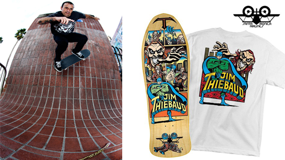SMA Skateboards re-releases the classic Jim Thiebaud Villain board and graphic along with a T-shirt.