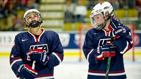 The U.S. women's team lost 5-4 in overtime against rival Canada in last year's worlds final.