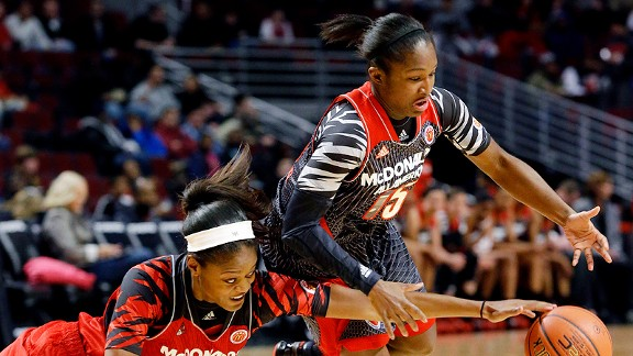 Linnae Harper and the West pulled away from Kaela Davis and the East at the McDonald's All American Games.