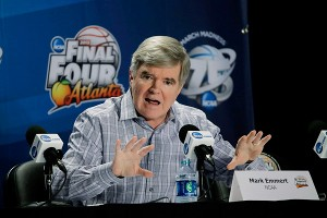 Much of the recent criticism of the NCAA has been directed at president Mark Emmert, who fielded questions Thursday in Atlanta.