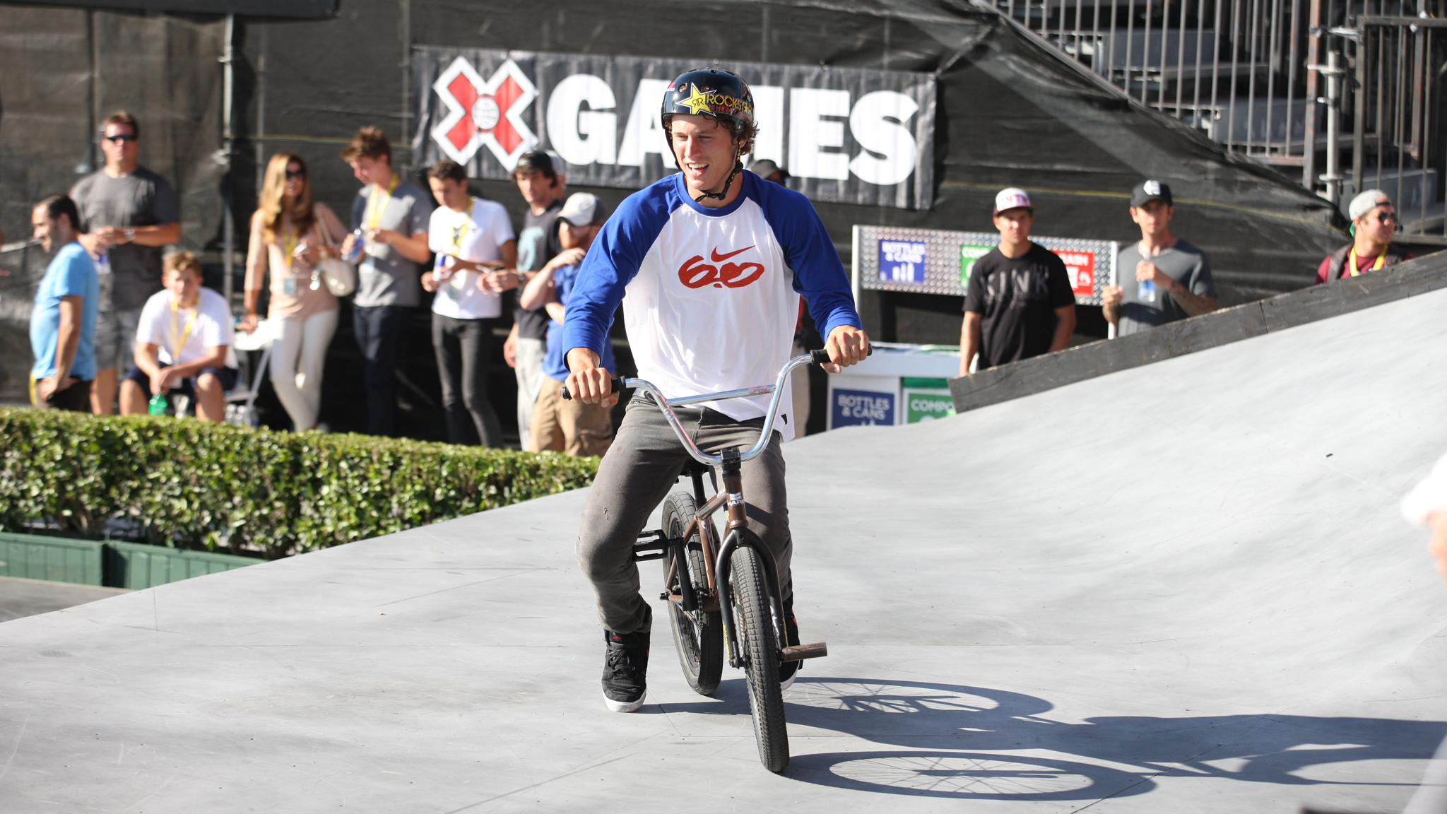 Haro/Nike pro Dennis Enarson is pulling double duty in BMX Dirt and Park at X Games Foz.