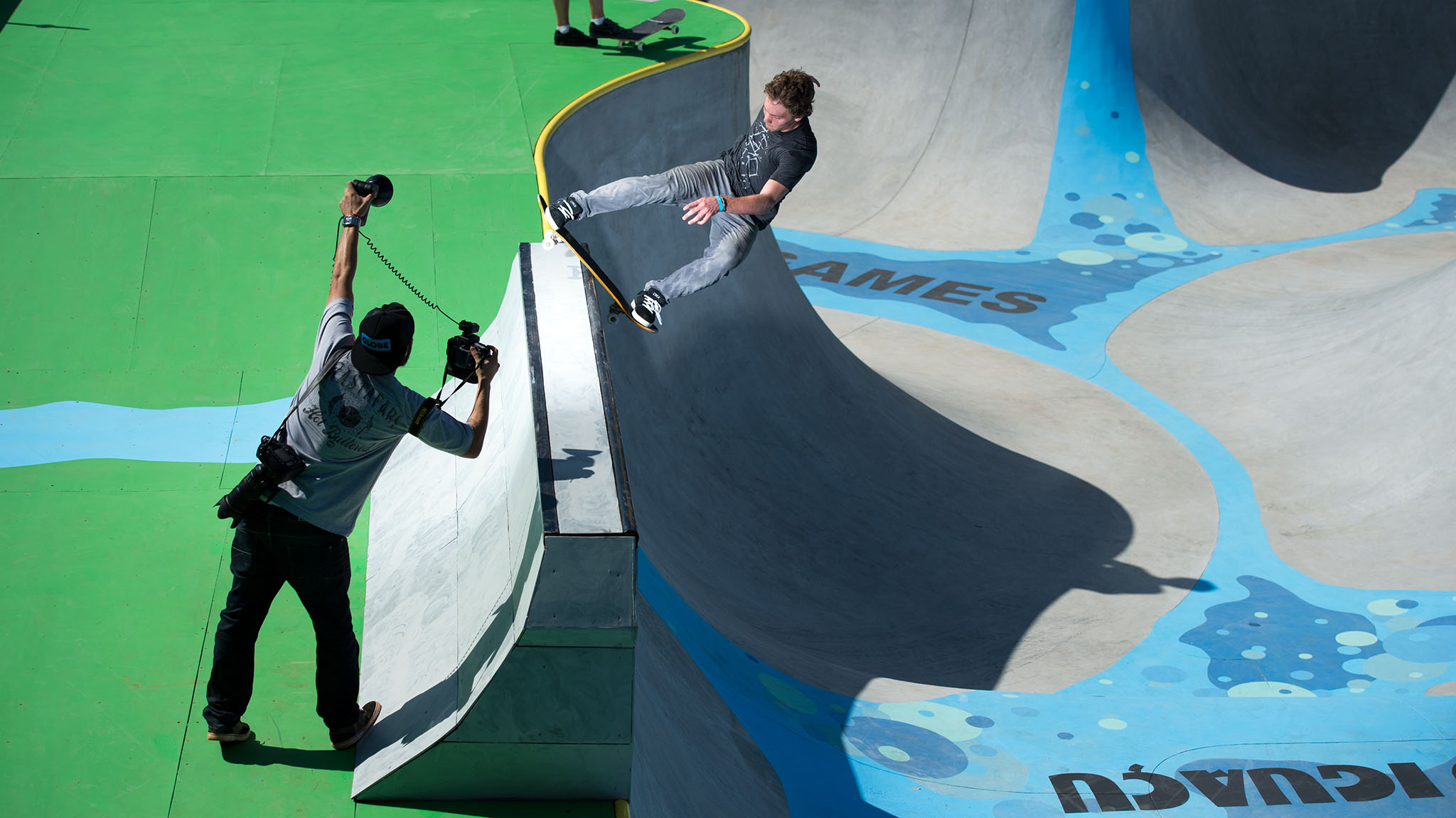 Originally a Skateboard Vert competitor, Ben Hatchell used his skate bowl experience to transition into the Skateboard Park category. Hatchell traveled to X Games Foz and quickly adapted to the park course during practice on X Games at Thursday.