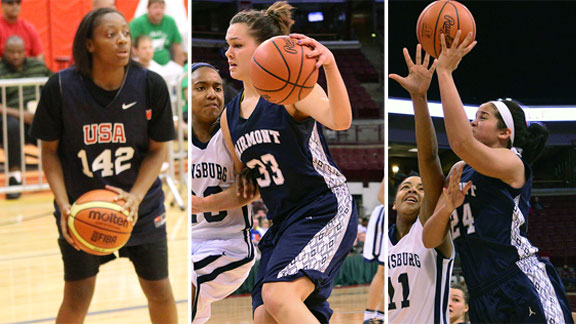 Kelsey Mitchell, Kathryn Westbeld and Makayla Waterman are shooting for a national championship with All-Ohio.