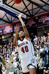 Jatarie White averaged 19.0 points, 10.6 rebounds, 3.2 blocks and 1.8 steals as a junior at Providence Day.