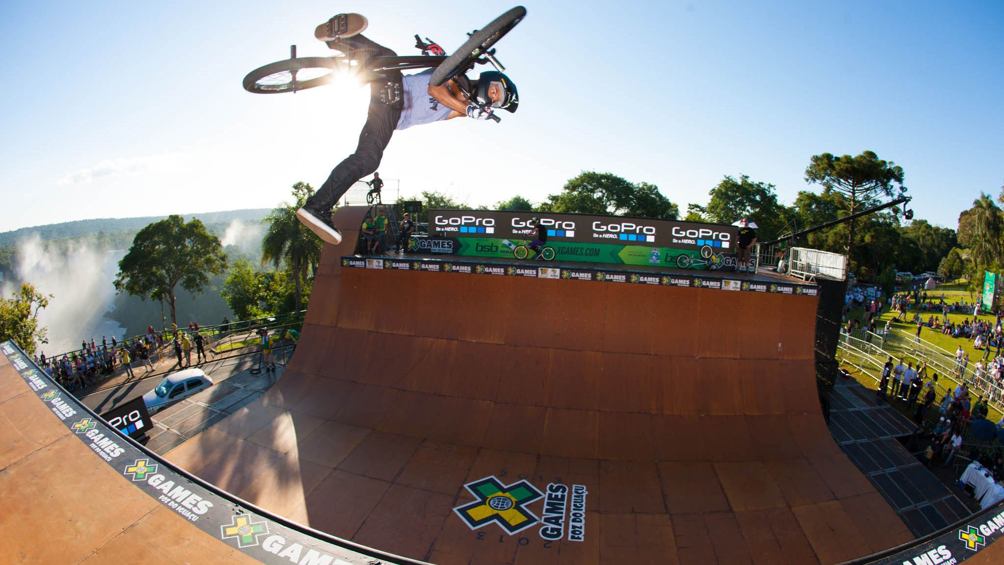 Mykel Larrin at X Games Foz in April. Larrin placed fifth in the finals.