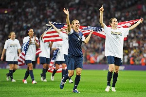 Heather Mitts and Kelley O'Hara