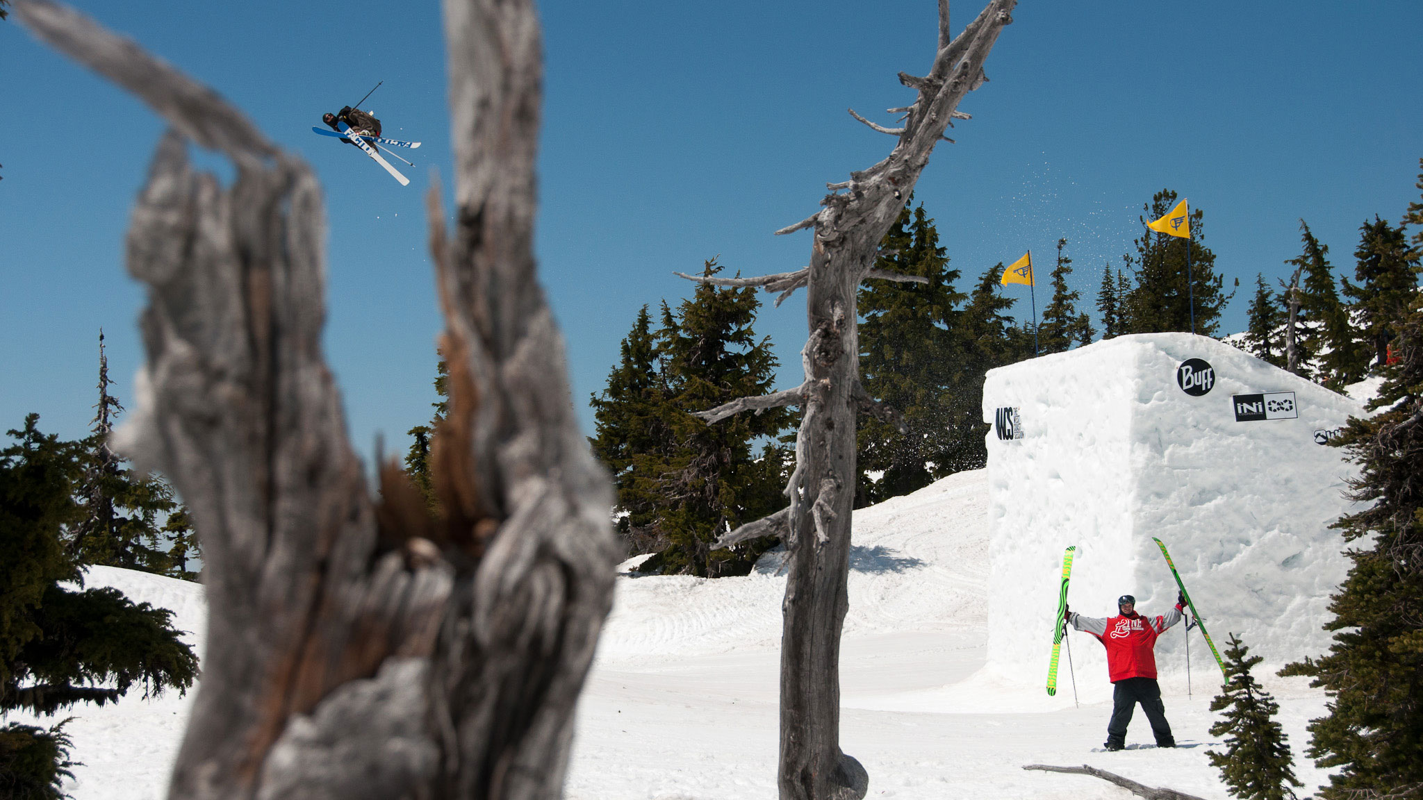 Tim McChesney and Jeff Curry enjoy the start to the summer season at Mt. Hood.