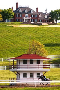 A renowned horse racing farm in the 1930s, Sagamore Farm had fallen into disrepair and by '86 was no longer operating. But Under Armour founder Kevin Plank saw potential and bought it in 2007, and extensive work has been done since.