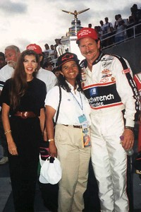 Dale Earnhardt, once one of Alba Colon's biggest skeptics, was one of her biggest fans by the time he won the Brickyard 400 in 1995.