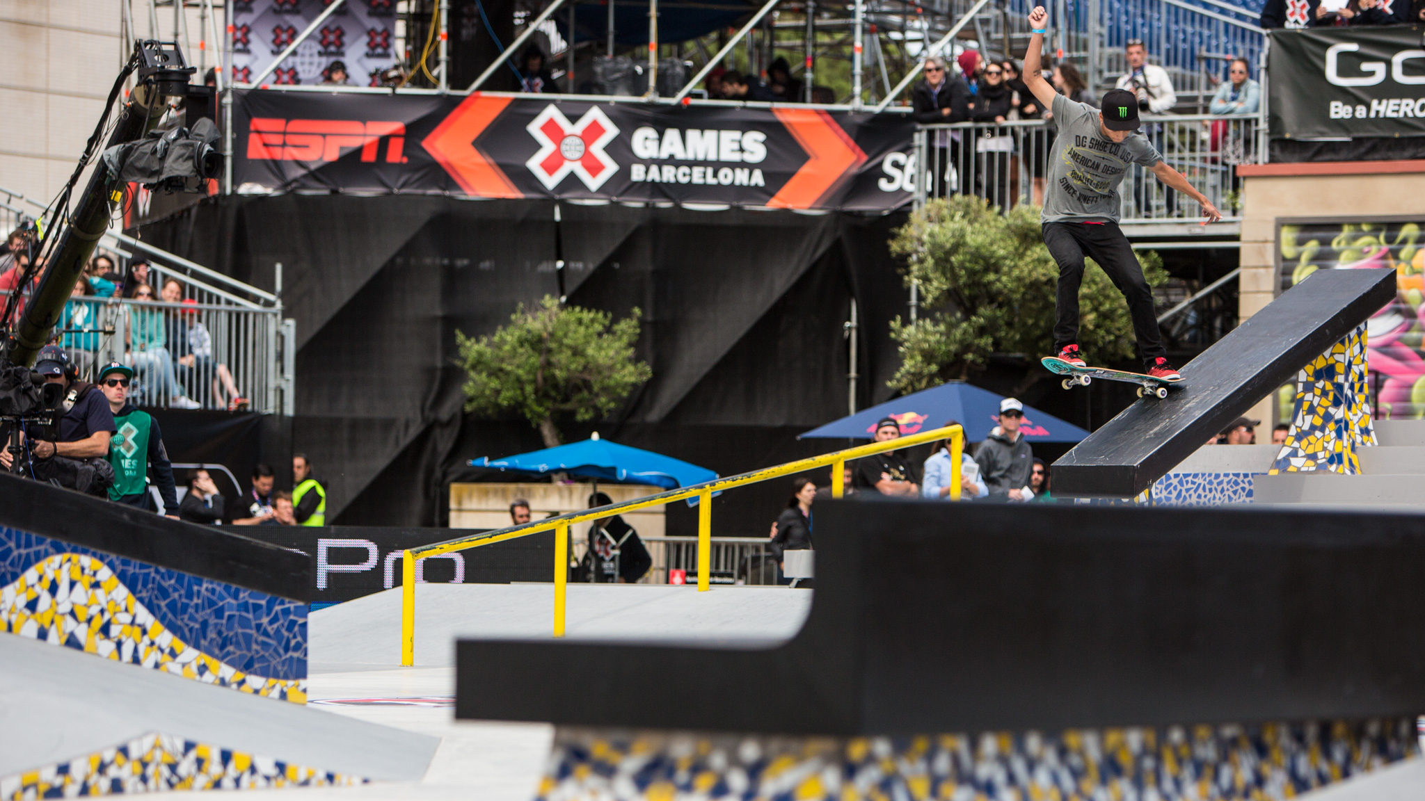 Nyjah Huston on his way to his sixth X Games medal.