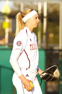 Sophomore Lauren Ainsley shut out Baylor to pitch the Aggies into a matchup with No. 1 Oklahoma in super regionals.