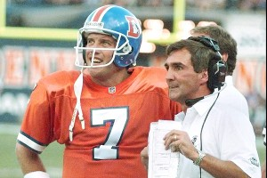 Shanahan won two Super Bowls in Denver with John Elway as his quarterback.