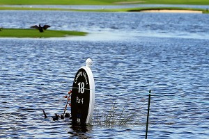 LPGA Tour players are dealing with more than just a water hazard this week in the Bahamas, where flooding has forced the first round to be cut from 18 to 12 holes.