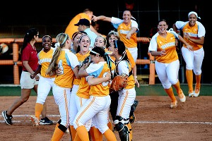 Tennessee celebrating win over Alabama