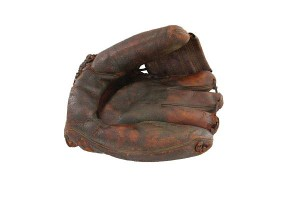 The Jackie Robinson glove sold Monday is believed to have been used in the 1955 and '56 World Series.