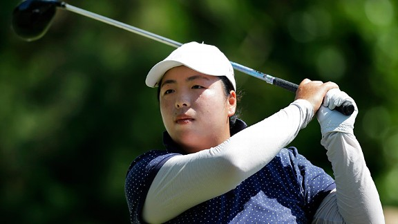 Shanshan Feng finished second to one of her idols, Karrie Webb, in last week's ShopRite LPGA Classic.