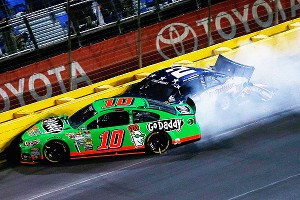 When Ricky Stenhouse Jr. bumped Danica Patrick's No. 10 Chevrolet, causing her to collide with Brad Keselowski in the Coca-Cola 600, it was just a small bump in the road for the couple.