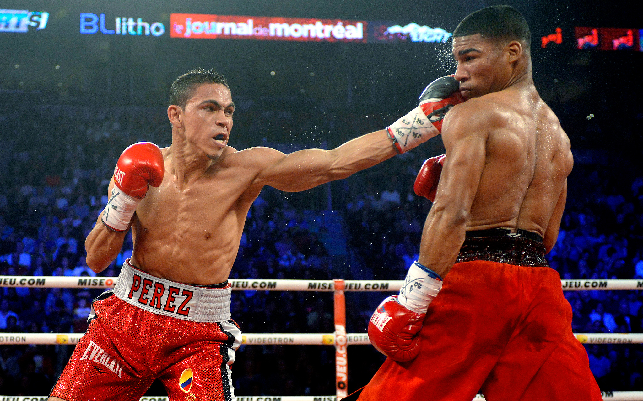 Darleys Perez connects with Yuriorkis Gamboa