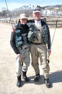 Don Cook has shared many of his passions with his daughter Emily, including one for fly-fishing.