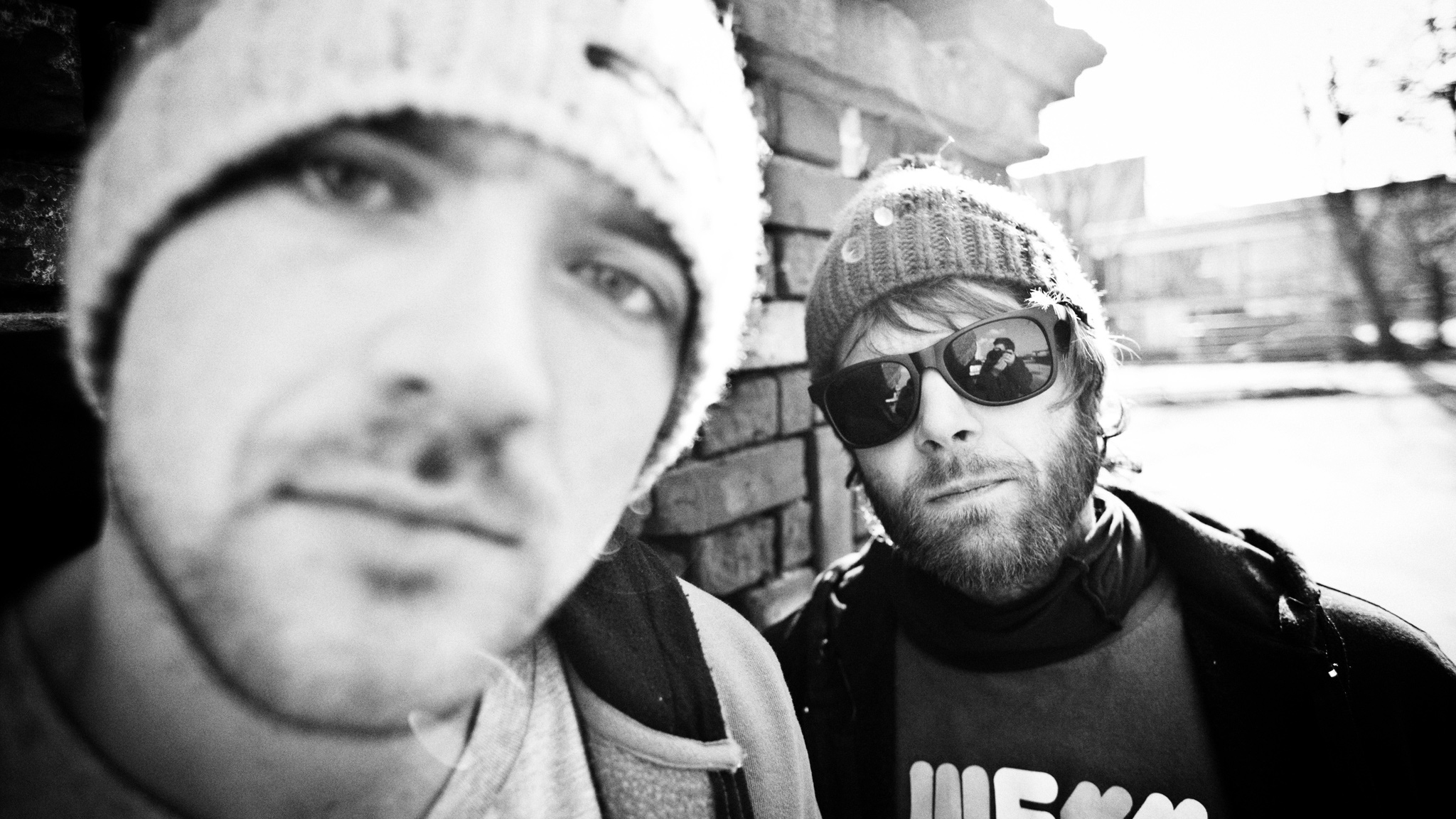 Maniac (L) and Rufflow (R) have been layering beats and lyrics together for nearly a decade.