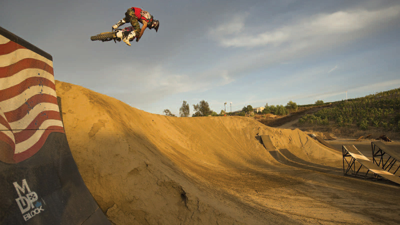 Metal Mulisha co-founder Larry Linkogle has written a memoir called Mind of the Demon. Here, Linkogle practices at the Metal Mulisha compound in Temecula, Calif.