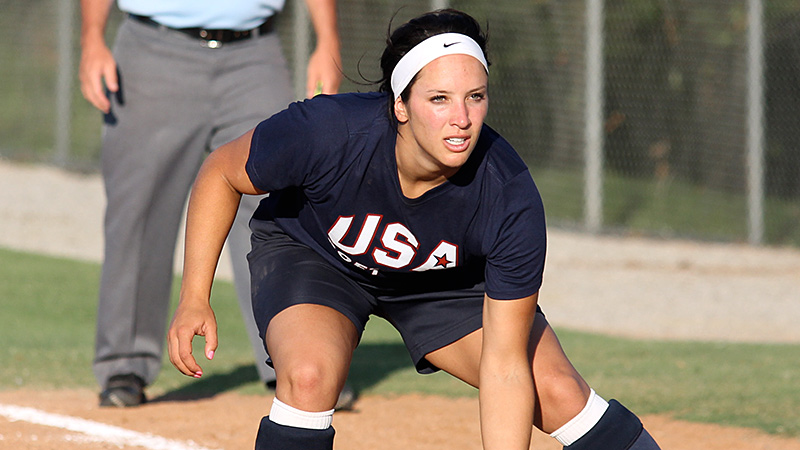 First baseman Valerie Arioto is one of just six holdovers from last summer on Team USA.