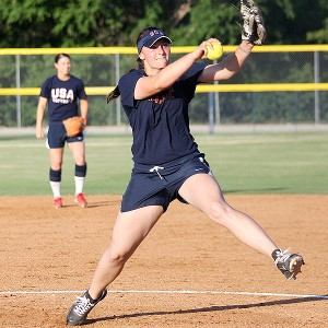 Pitcher Jessica Moore is just beginning her time with Team USA, but don't expect her to stay long.