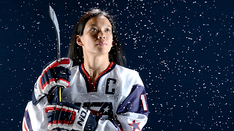 Julie Chu is at the U.S. national hockey team selection camp this week, hoping to make the training squad for what would be her fourth Olympic team.