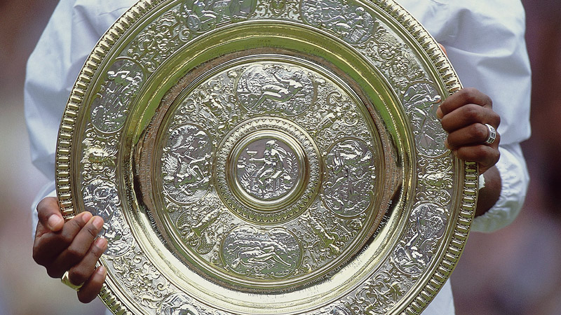 Blanche Bingley Hillyard was the first Wimbledon champion to be awarded the Venus Rosewater Dish, but the name of Maud Watson, who won the first two titles in 1884 and 1885, has since been added.