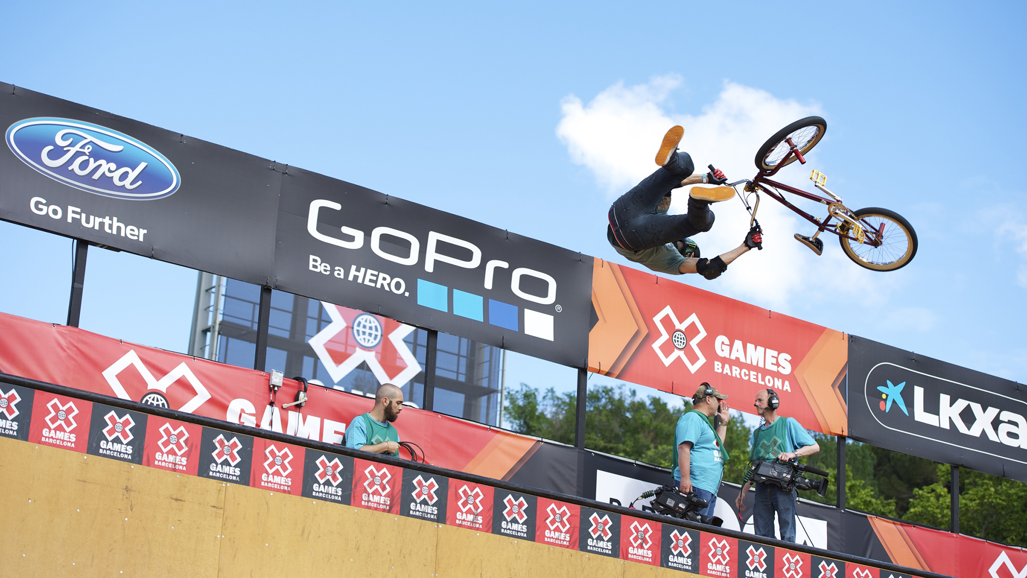 Jamie Bestwick, seen here at X Games Barcelona, secured his ninth consecutive overall Dew Cup title in BMX vert Saturday in Ocean City, Md.