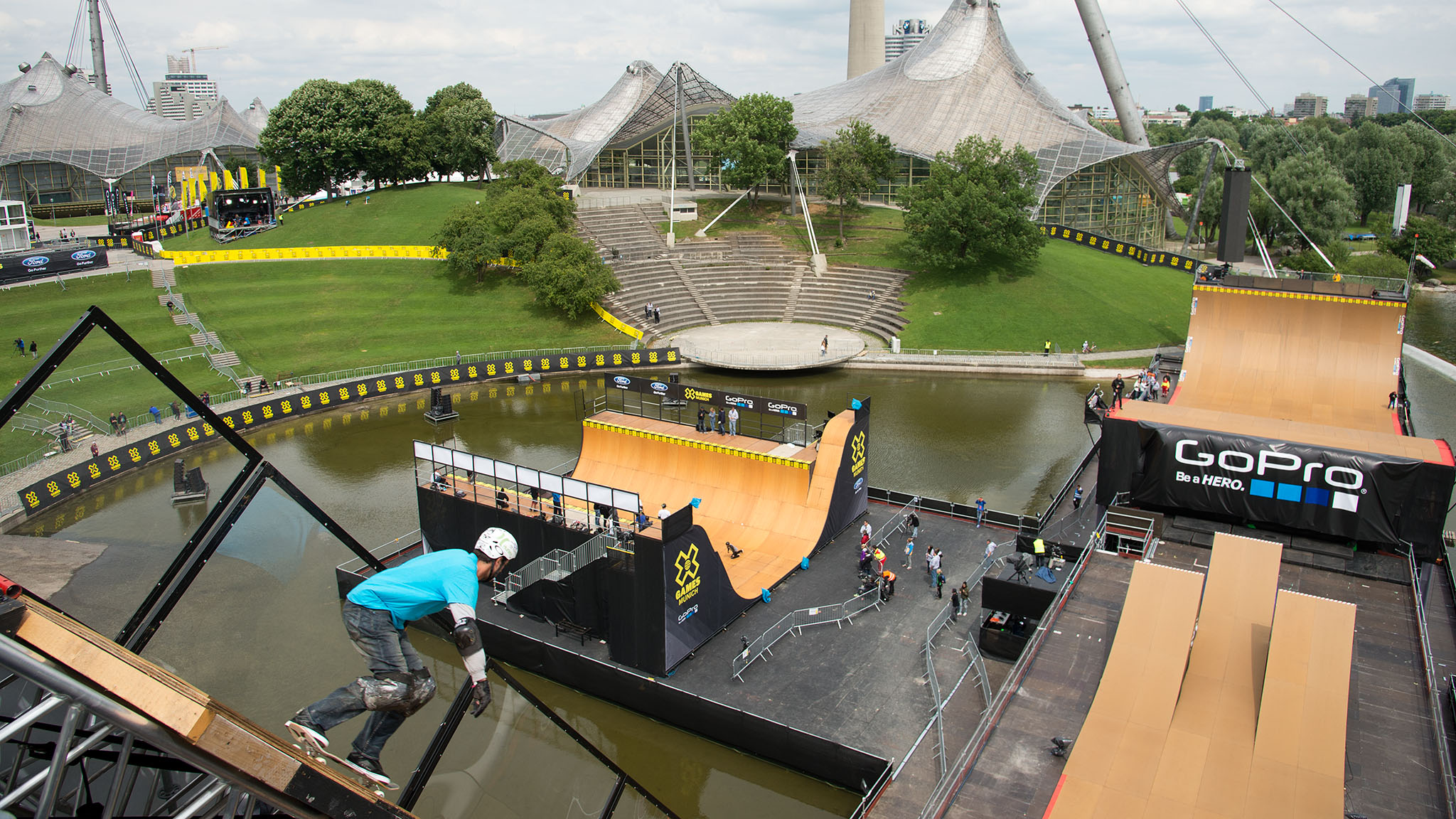 X Games will use a majority of the venues at Munich's Olympiapark for the first time since the 1972 Munich Olympics.
