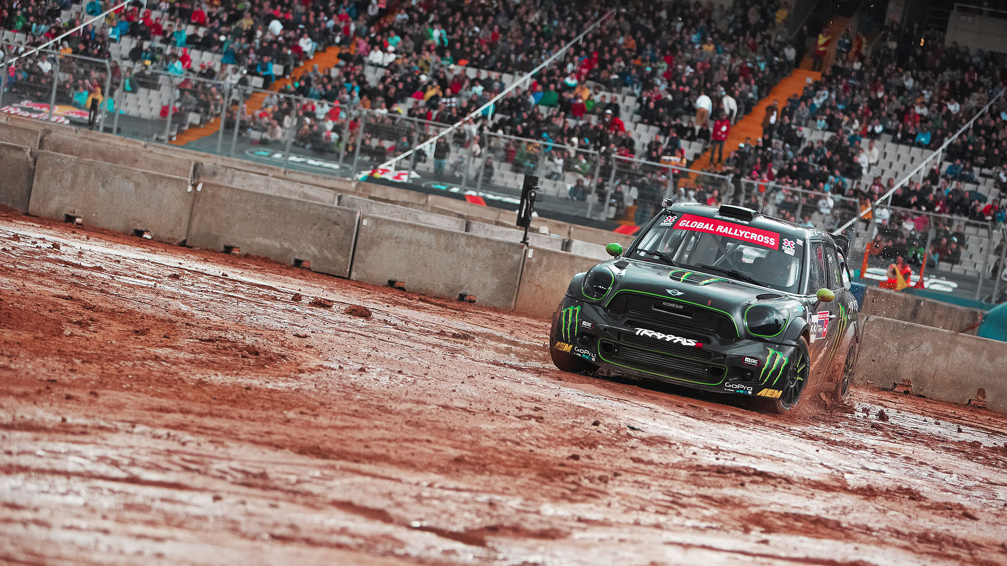 The X Games Barcelona RallyCross race had to be canceled due to rain. The make-up race will be held Saturday in Munich.