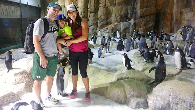 An up-close encounter with penguins at the Henry Doorly Zoo was one of the highlights of Jessica Mendoza's trip to Omaha.