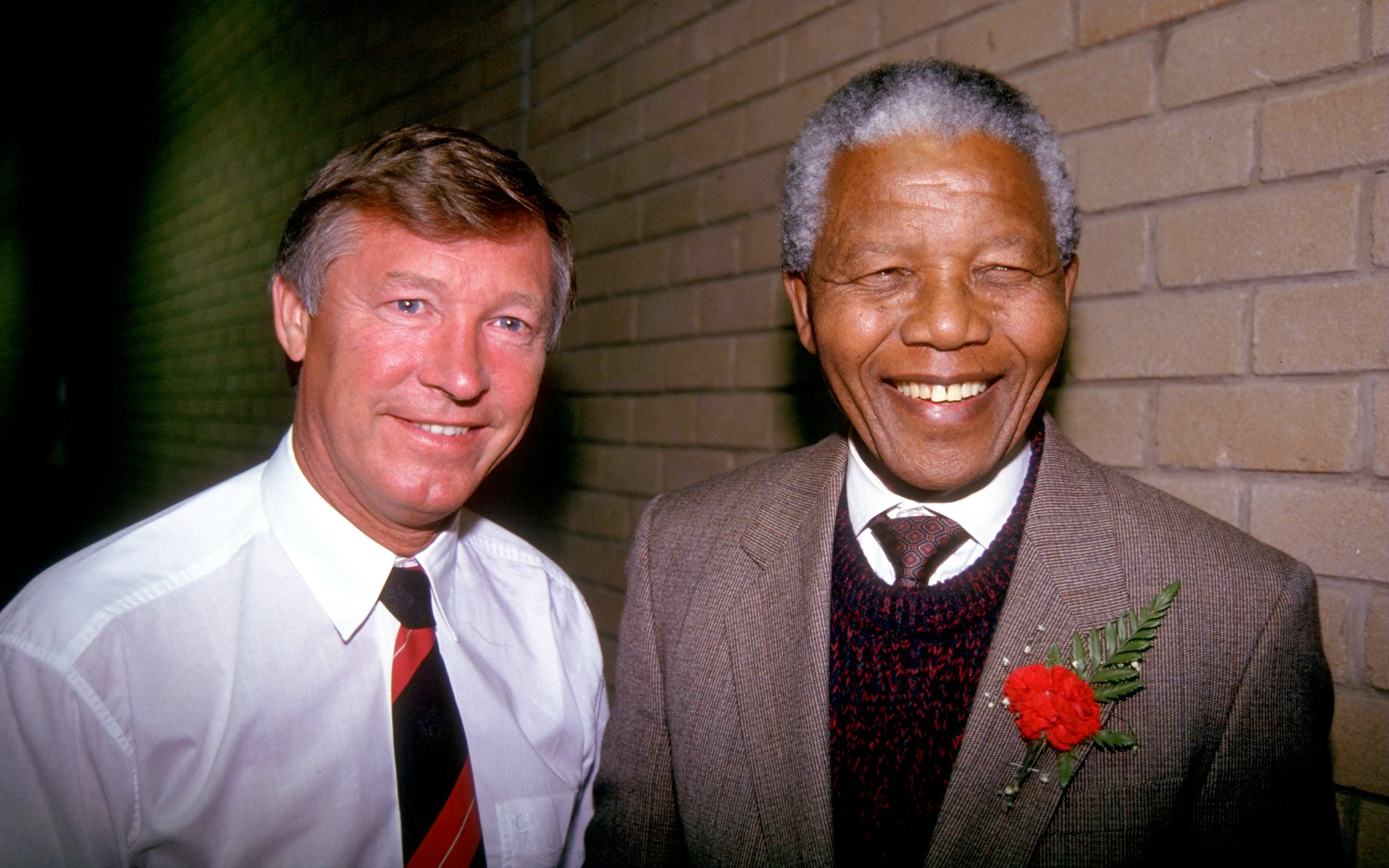 Alex Ferguson and Nelson Mandela