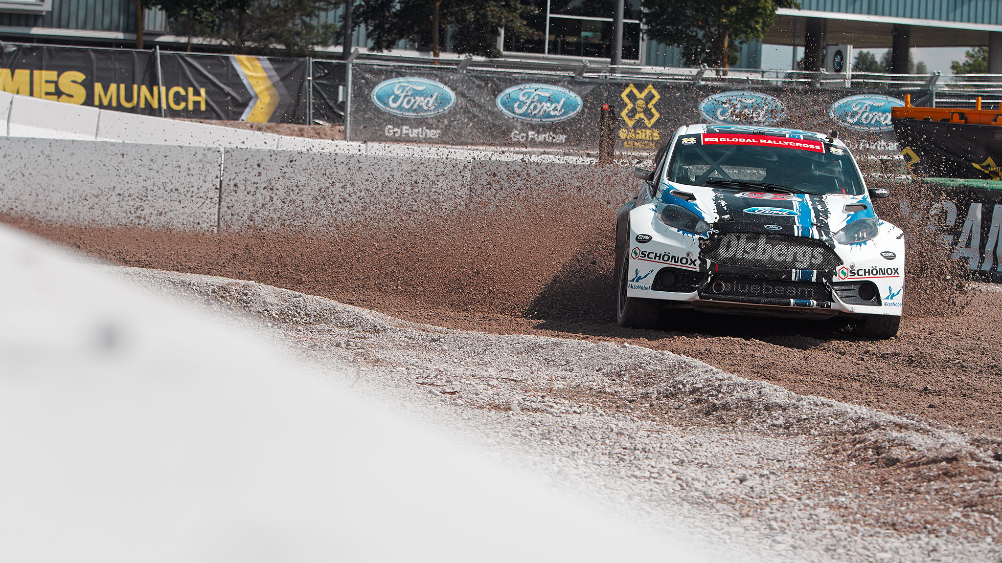 Toomas Topi Heikkinen slides around a corner Sunday ien route/i to winning the X Games Munich RallyCross gold medal. It was his first gold after winning bronze in the first race on Saturday in Munich and silver at X Games Brazil.