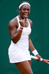 American Sloane Stephens reached her second Grand Slam quarterfinal of the year.