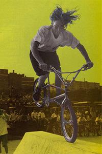 James Shepherd at Mulally Skatepark in Bronx, N.Y., 1991.